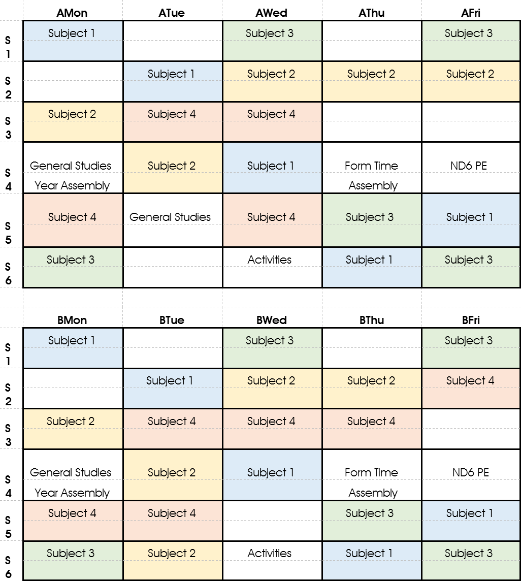 Timetable - Initial Domain